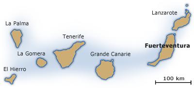 Carte Espagne Fuerteventura.Ile Fuerteventura Canaries Espagne