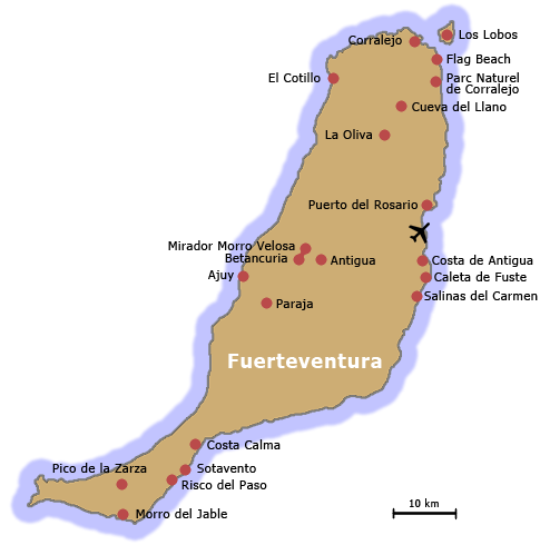 Ile Fuerteventura (Canaries   Espagne)